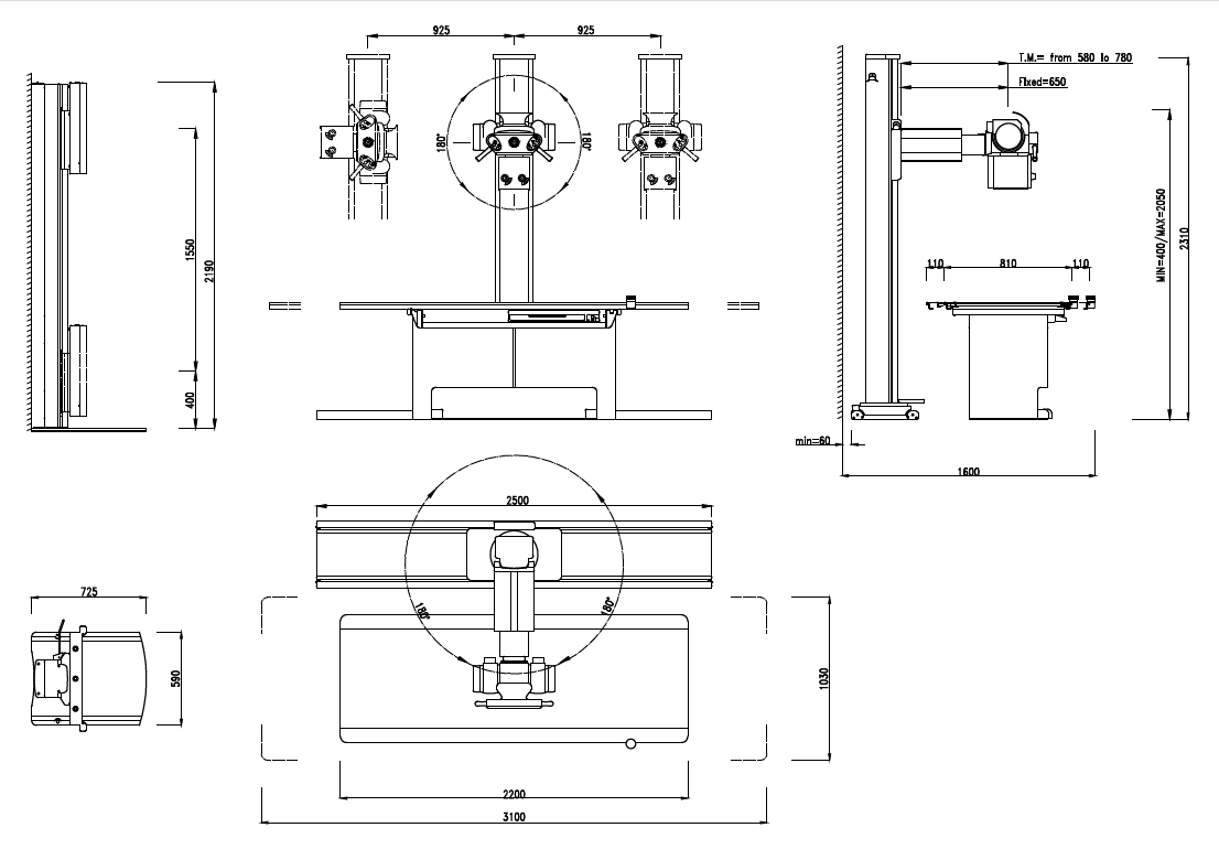 See The Scheme » Dimensions Of ECLYPSE Digital And Analogic X Ray Room » Part 96